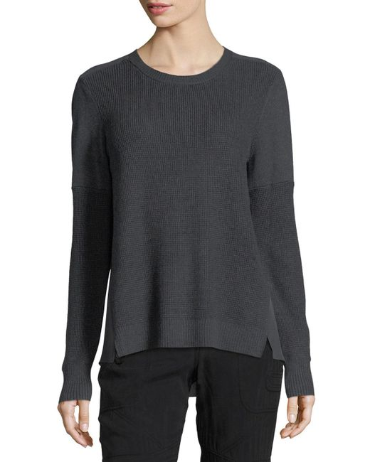 Go> By Go Silk | Gray Thermal-stitched Silk-back Sweater | Lyst
