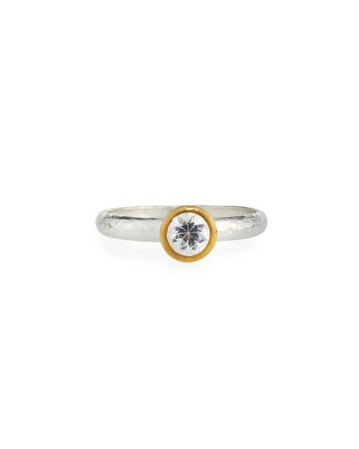 Gurhan - Delicate Skittle Ring With Bezel-set White Sapphire - Lyst