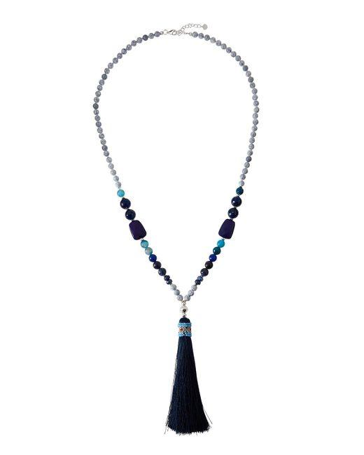 Nakamol | Blue Long Beaded Tassel Pendant Necklace | Lyst