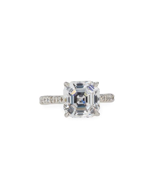 Fantasia by Deserio - Multicolor Asscher-cut Cz Crystal Ring - Lyst
