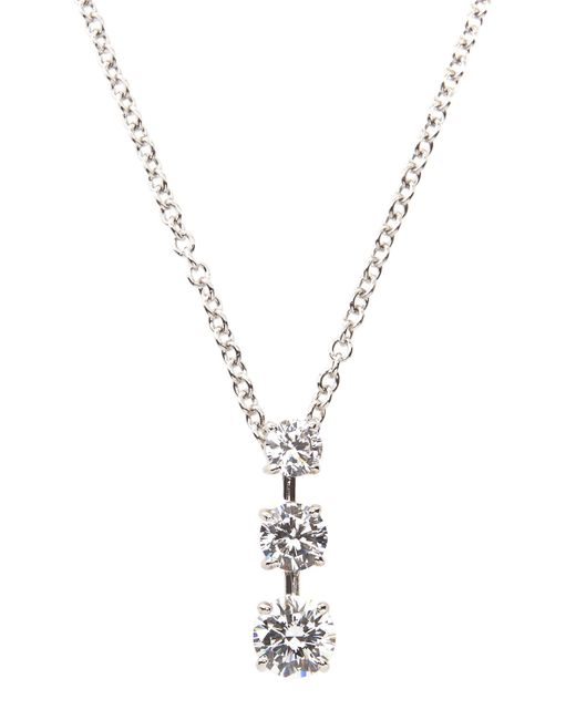 Fantasia by Deserio | Metallic Triple-stone Cz Pendant Necklace | Lyst