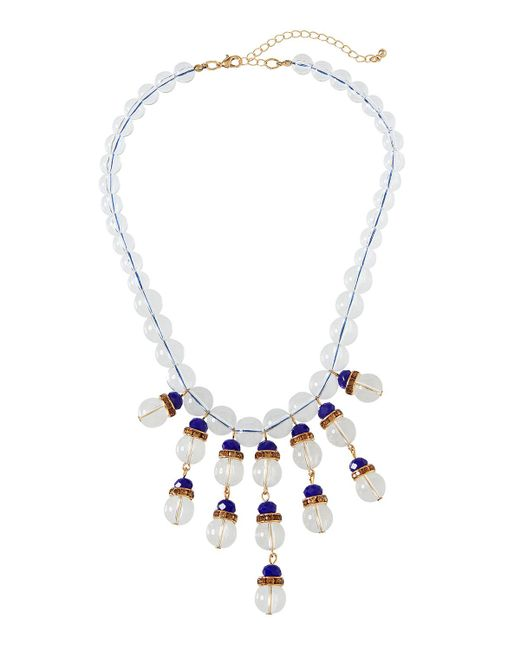 Fragments - Metallic Montana Clear & Pavé Statement Necklace - Lyst