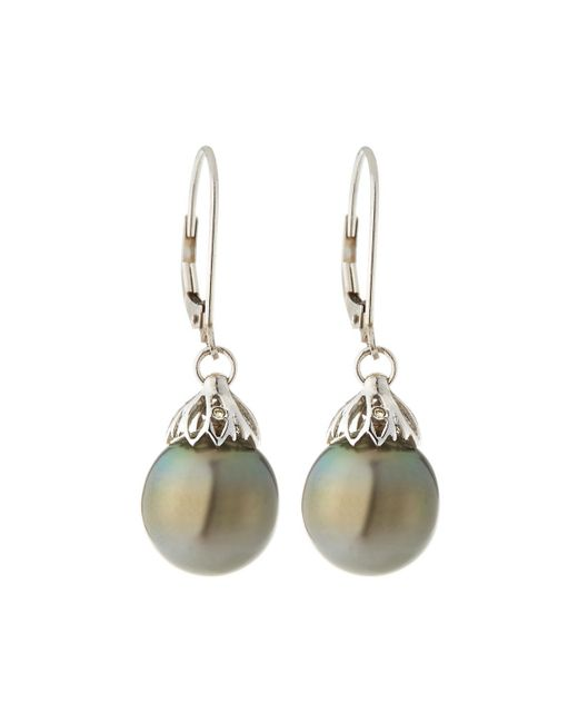 Belpearl - 14k White Gold Petal Drop & Pearl Earrings - Lyst