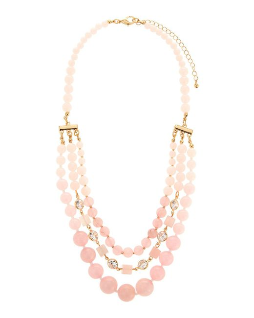 Fragments - Metallic Multi-strand Statement Necklace - Lyst