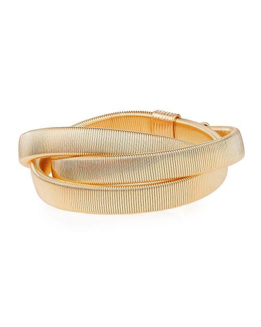 Lydell NYC - Metallic Twisted Overlap Bracelet - Lyst