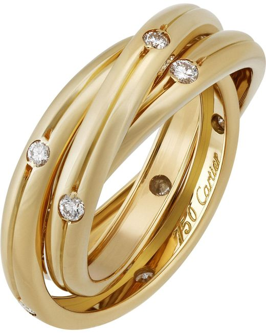 Cartier - Metallic Estate Constellation 18k Triple-band Ring W/ Diamonds - Lyst