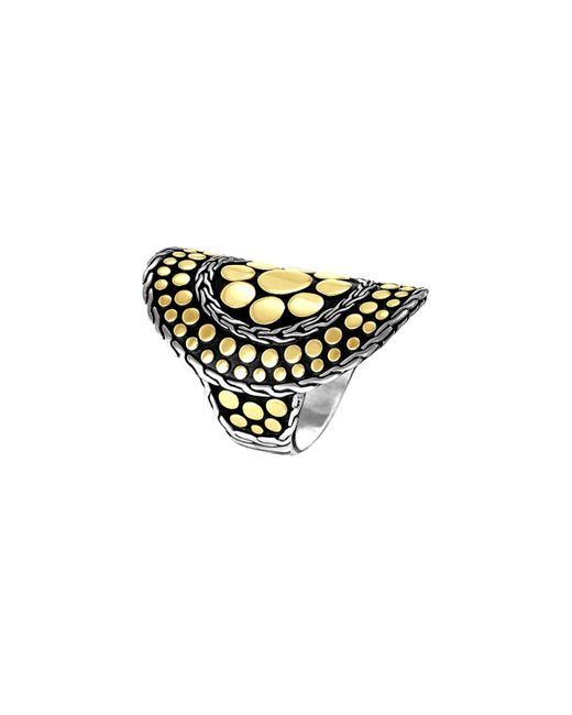 John Hardy | Metallic Dot Nuansa Curved Ring | Lyst