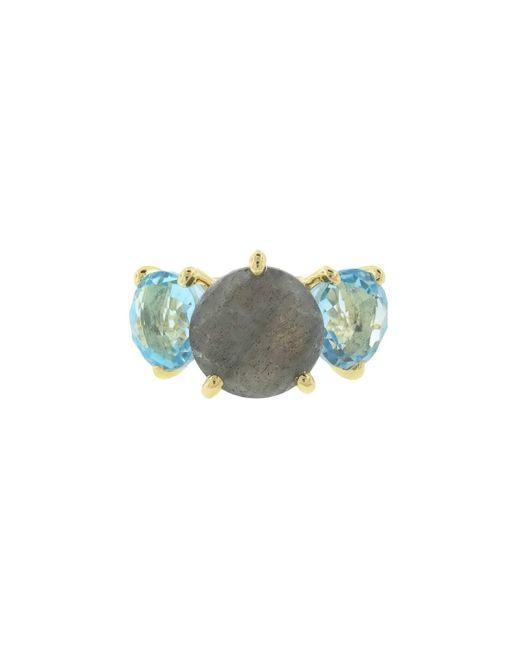 Ippolita | Metallic 18k Rock Candy Gelato 3-stone Ring In Oceano | Lyst