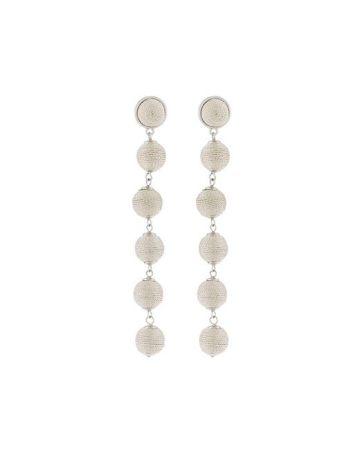 Lydell NYC - Metallic Thread-wrapped Sphere Dangle Earrings - Lyst