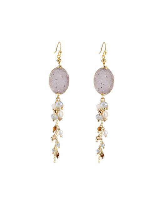 Nakamol | Metallic Long Beaded Druzy Dangle Earrings | Lyst