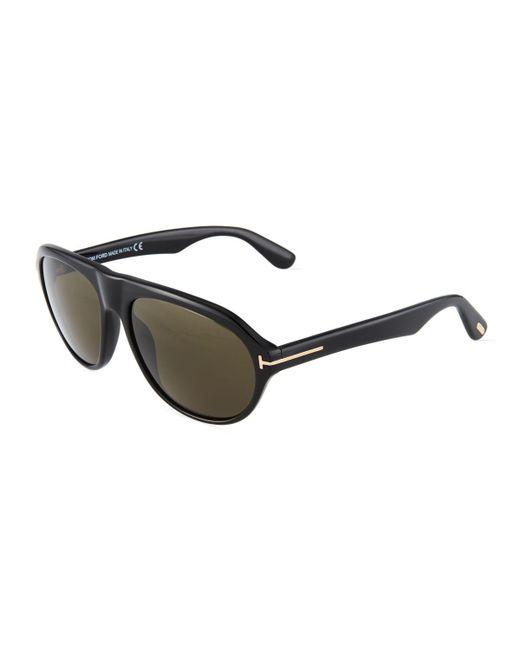 Tom Ford - Black Aviator Acetate Sunglasses - Lyst
