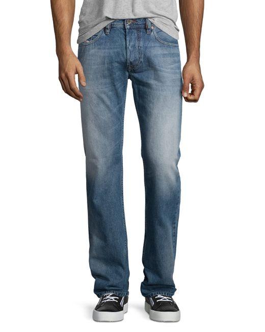 diesel larkee l32 faded straight leg jeans in blue for men. Black Bedroom Furniture Sets. Home Design Ideas