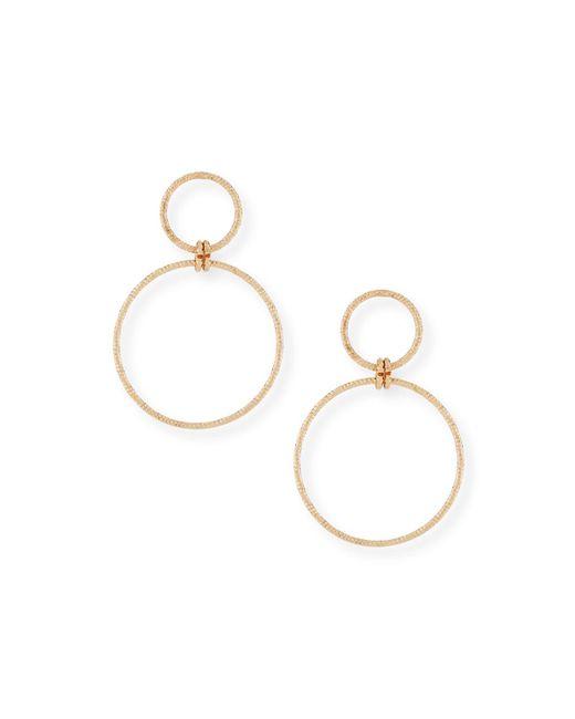 Fragments - Metallic Double Hoop Earrings - Lyst