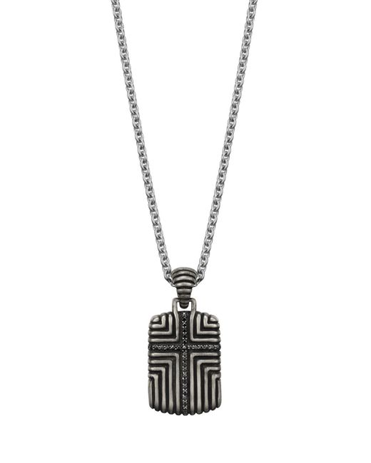 John Hardy | Batu Mens Meteorite & Black Sapphire Dog Tag Necklace for Men | Lyst