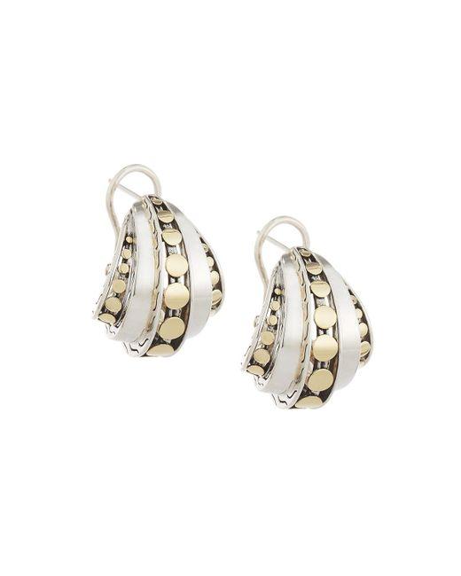 John Hardy | Metallic Dot Deco Buddha Belly Hoop Earrings | Lyst