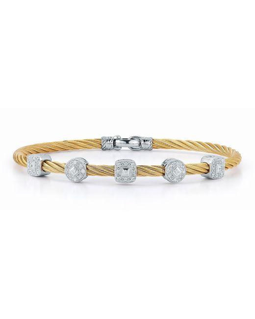 Alor | Multicolor Pave Diamond Five-station Cable Bracelet | Lyst