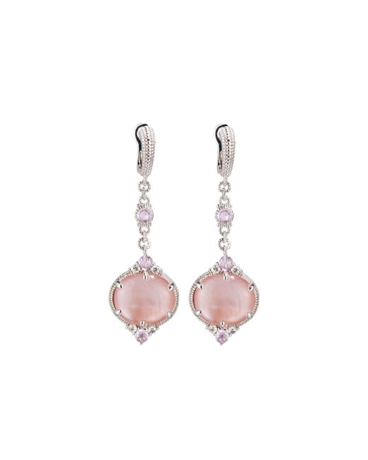 Judith Ripka | Multicolor Allure Pink Mother-of-pearl Doublet Drop Earrings | Lyst