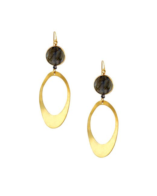 Nakamol | Gray Tiered Labradorite Double-drop Earrings | Lyst
