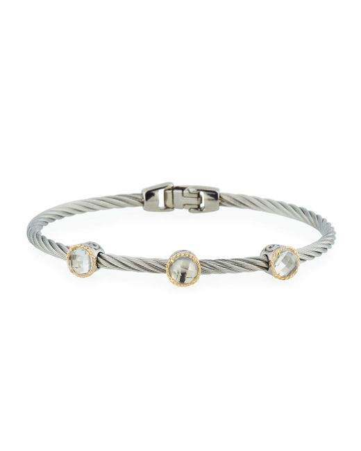 Alor - Metallic Triple Topaz Station Cable Bracelet - Lyst