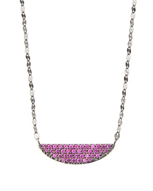 Lana Jewelry - Pink 14k Electric Crescent Pendant Necklace - Lyst