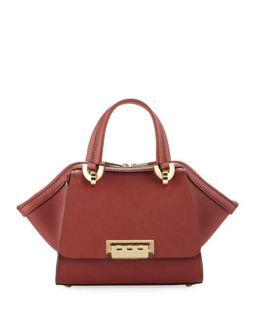 Zac Zac Posen - Red Eartha Mini Leather Double-handle Satchel Bag - Lyst