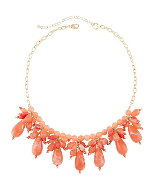 Lydell NYC - Orange Multi-drop Crystal Statement Necklace for Men - Lyst