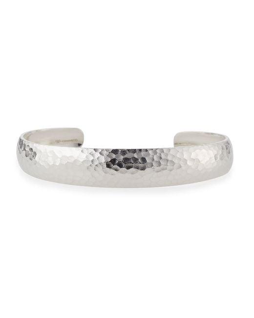 Gurhan | Metallic Hammered Silver Cuff Bracelet | Lyst