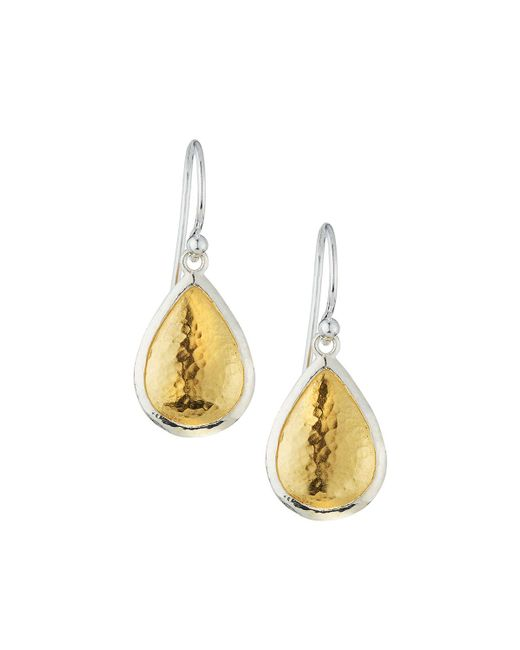 Gurhan | Metallic Amulet Two-tone Teardrop Earrings | Lyst