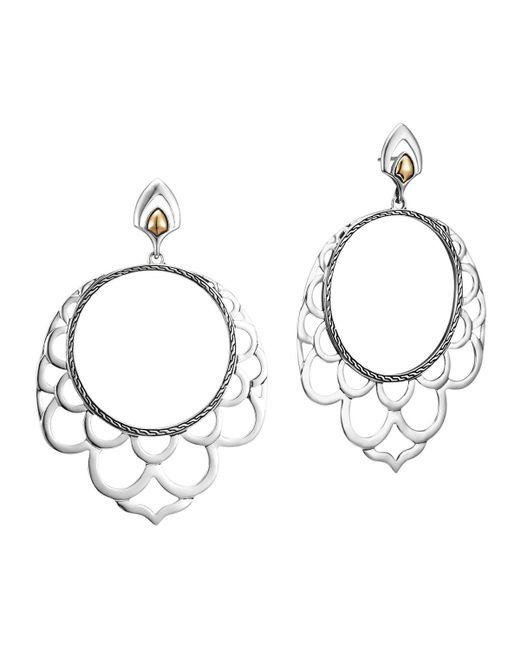 John Hardy - Metallic Naga 18k & Silver Lace Hoop Earrings - Lyst