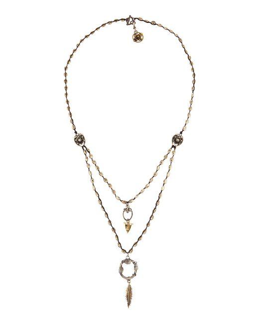 Love Heals   Metallic Long Braided Pyrite Pendant Necklace   Lyst