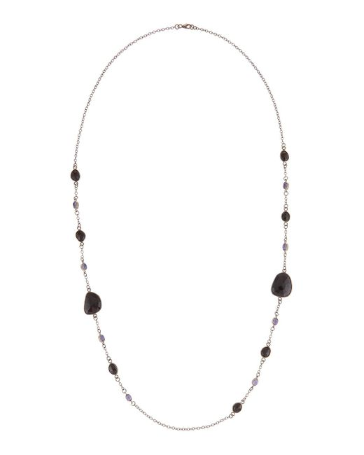 Bavna | Multicolor Long Tanzanite & Spinel Station Necklace | Lyst