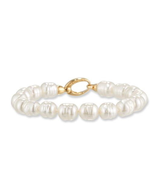 Majorica | White 8mm Baroque Pearl Bracelet | Lyst