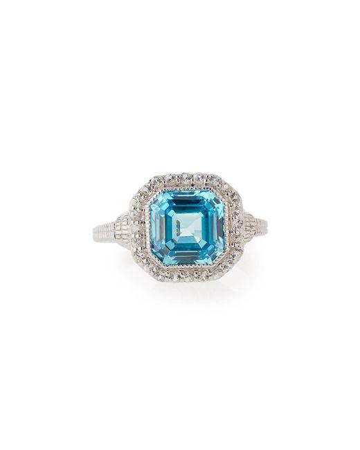 Judith Ripka | Asscher-cut Blue Crystal & Sapphire Ring | Lyst