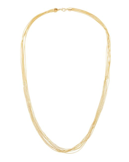 Panacea   Metallic Long Multi-strand Necklace   Lyst