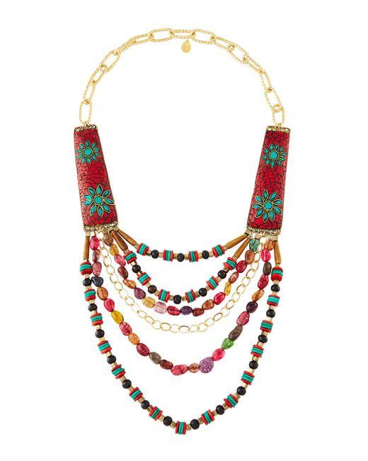 Devon Leigh | Multicolor -inspired Multi-strand Statement Necklace | Lyst