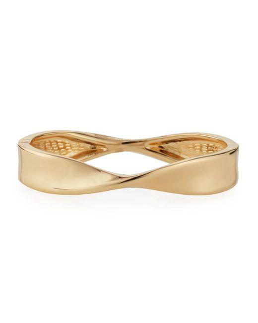 Lydell NYC | Metallic Twisted Hinged Bangle Bracelet | Lyst
