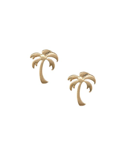 Lydell NYC | Metallic Palm Tree Stud Earrings | Lyst