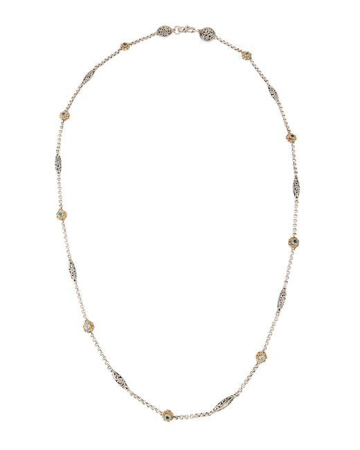 Konstantino | Gray Color Classics Long Blue Topaz Station Necklace | Lyst