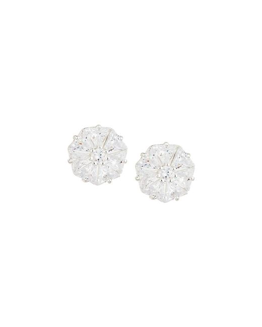 Fragments | White Faceted Round Cz Stud Earrings | Lyst