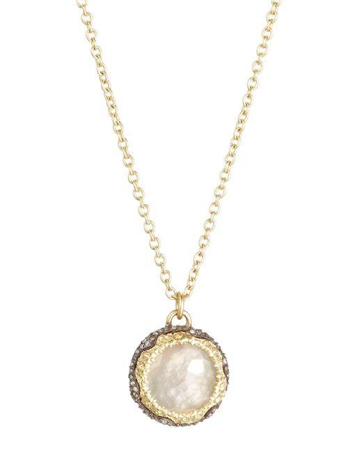 Armenta | Gray Old World Round Chalcedony & Diamond Pendant Necklace | Lyst