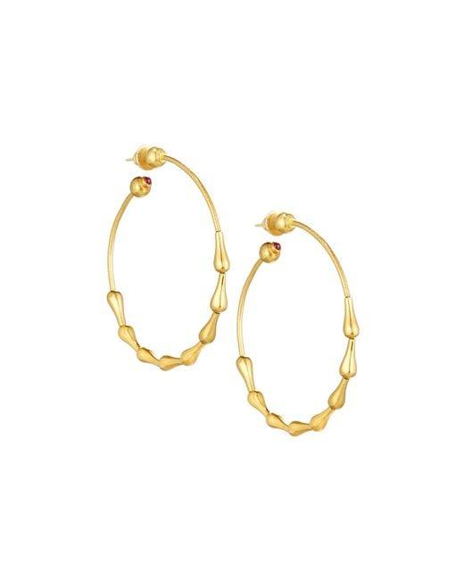 Gurhan   Metallic Delicate 24k Classic Wave Hoop Earrings   Lyst