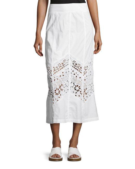 XCVI   White Bryant Eyelet Poplin Maxi Skirt   Lyst