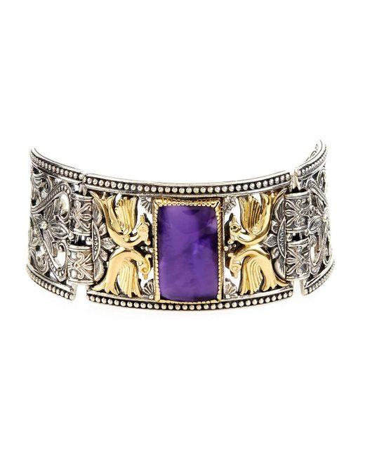 Konstantino | Purple Erato Statement Link Bracelet W/ Amethyst Doublet | Lyst