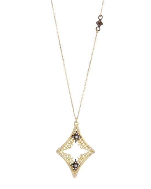 Armenta - Metallic Old World Diamond Mesh Cravelli Pendant Necklace - Lyst