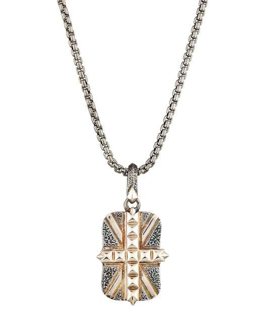 Stephen Webster | Metallic Men's Studded Union Jack Dog Tag Necklace | Lyst