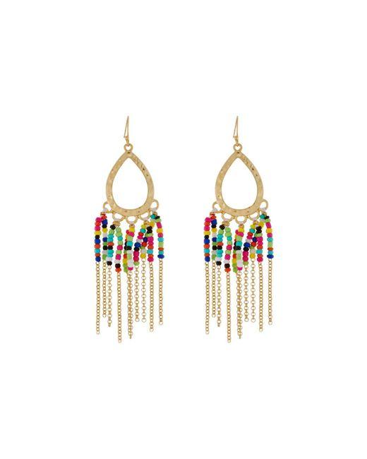 Fragments | Metallic Seed Bead Fringe Dangle Earrings | Lyst