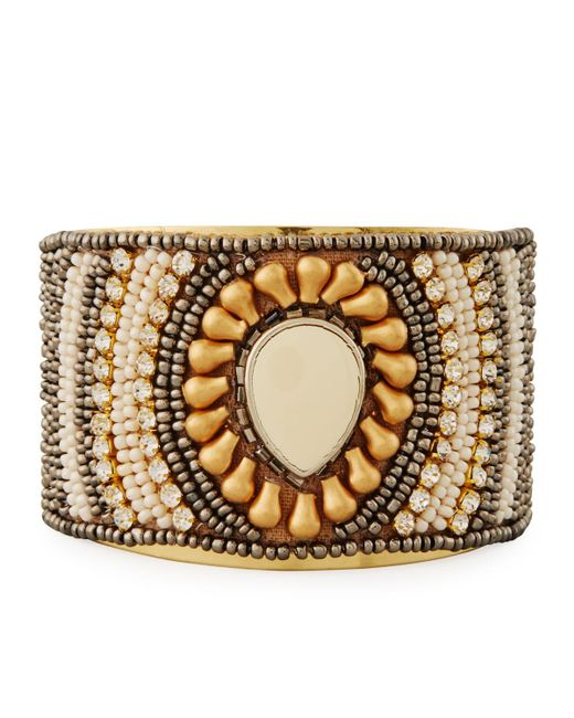 Nakamol | Brown Beaded Statement Cuff Bracelet | Lyst