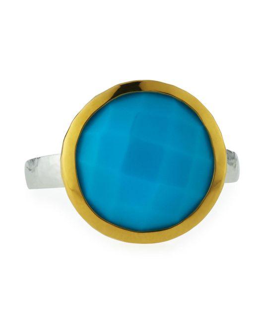 Gurhan | Metallic Galapagos Large Round Checkerboard-cut Turquoise Ring | Lyst