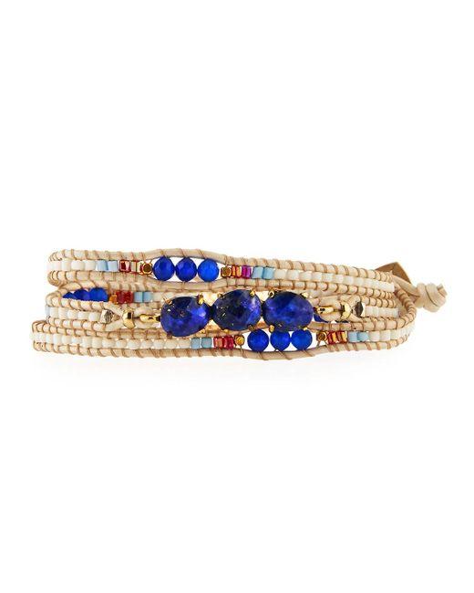 Nakamol | Blue Beaded Wrap Bracelet | Lyst