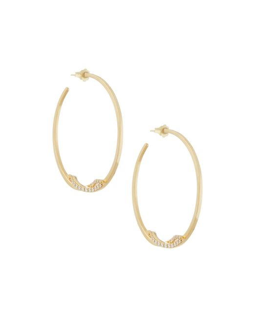 Lana Jewelry | Metallic 14k Flawless Knot Pave Diamond Hoop Earrings | Lyst
